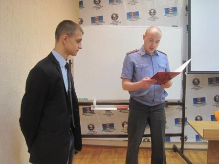 В Воркуте наградили студента, который задержал грабителя