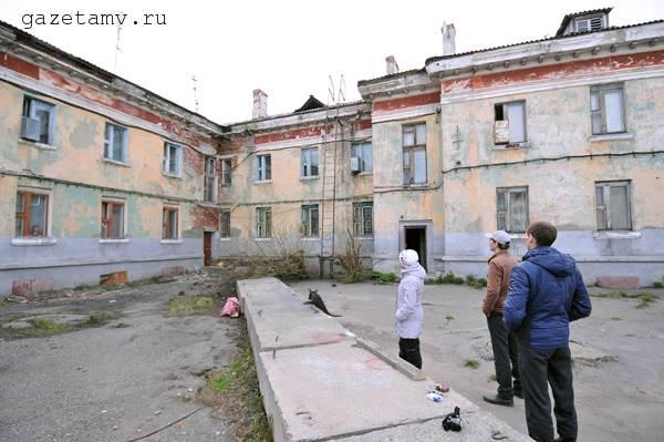 В Воркуте начал разрушаться жилой дом